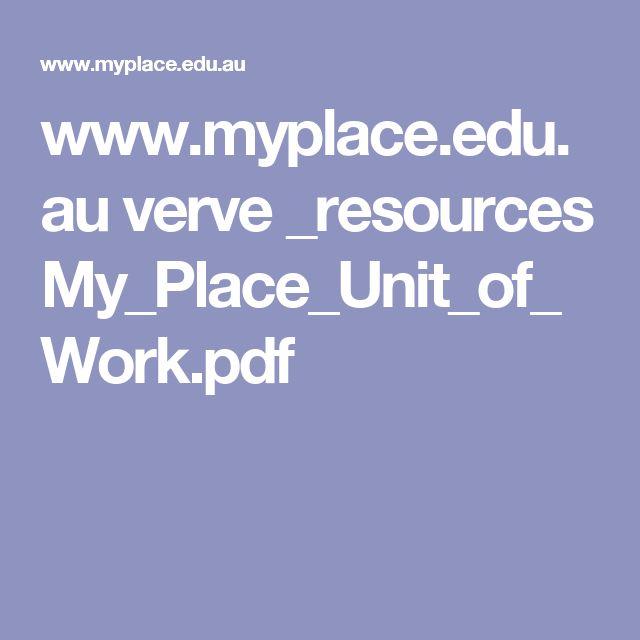 www.myplace.edu.au verve _resources My_Place_Unit_of_Work.pdf