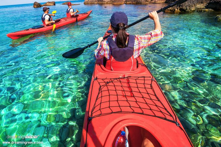 Sea kayaking is an extremely fun activity, which slowly begins to gain ground in Greece. Indicatively, excellent destinations for sea kayaking are Pelion, Chalkidiki and Samos. http://www.dreamingreece.com/activities/sea-kayaking-in-greece - #seakayak #greece #dreamingreece #travel #vacations