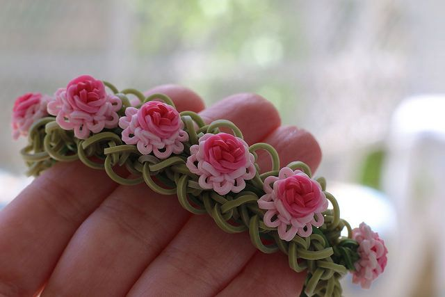 Ruffles-and-Roses-Bracelet by YarnJourney, via Flickr