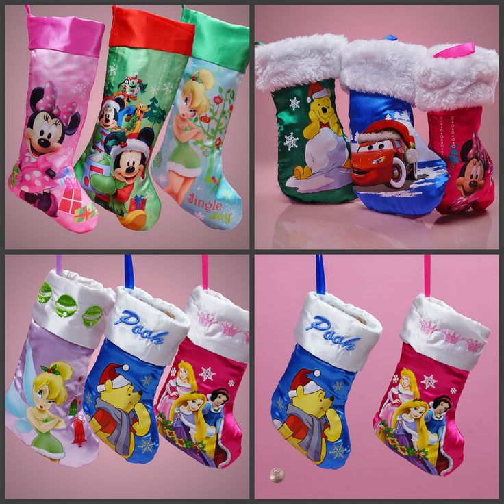 Our New Disney Character Christmas Stockings! How cute are they?! http://www.papermart.com/Disney-Christmas-Stockings/id=51998#51998