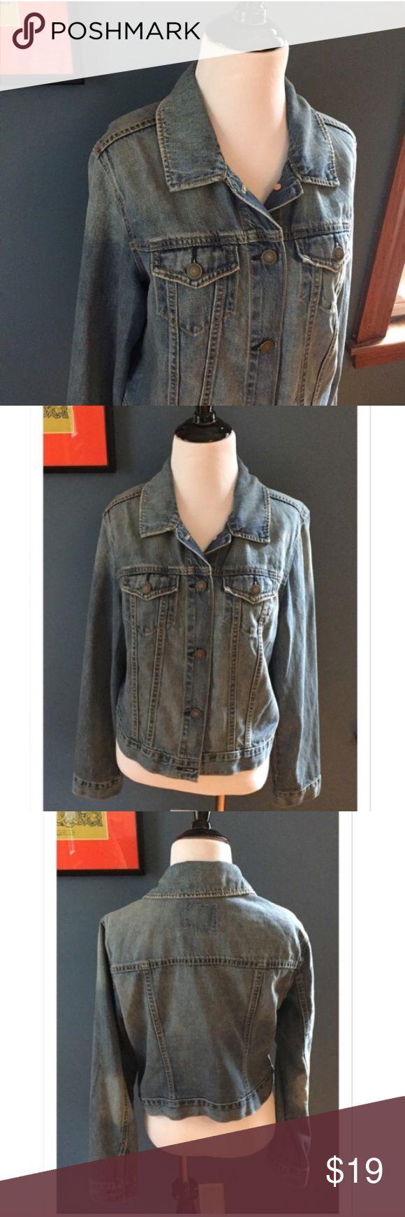 "Old Navy Jean Jacket Great denim jacket from Old Navy. 100% cotton. Shoulder 16""; Bust 21"" across, armpit to armpit; Length 20.5""; Sleeve 24.5"". EUC Old Navy Jackets & Coats Jean Jackets"