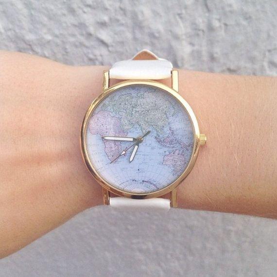 montre carte du monde  #montresfemmepascher #montresoriginales #montrestendance