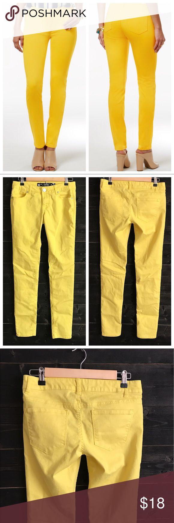 """Yellow Skinny Jeans Yellow Skinny Jeans - 32"""" Inseam - Gently Used Condition Celebrity Pink Jeans Skinny"""