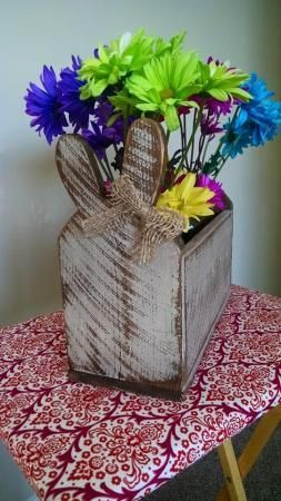 182 best woodworking easter crafts images on pinterest easter shabby chic bunny box do it yourself home projects from ana white solutioingenieria Gallery