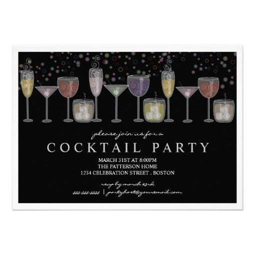 34 best Cocktail Party Invitations images on Pinterest Cocktail - fresh birthday party invitation designs