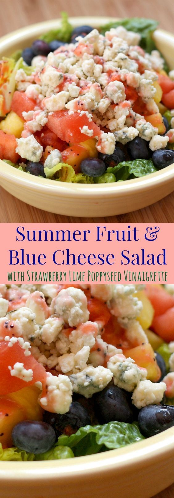 ... Recipe | Salad With Strawberries, Blue Cheese Salad and Cheese Salad
