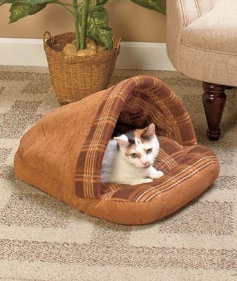 Plaid Slipper Pet Beds