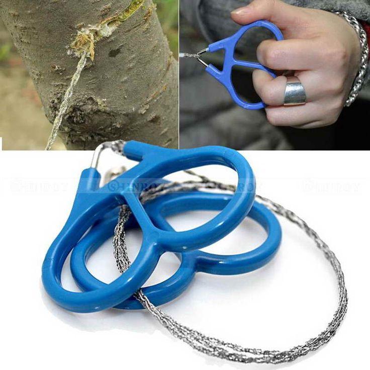 Stainless Steel Cincin Kawat Hiking Camping Berburu Petualangan Gulir String Gergaji Alat Survival Terbuka Diperlukan