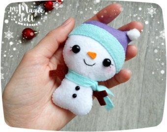 Adornos navideños fieltro adorno de muñeco de nieve adorno adornos fieltro Navidad árbol de Navidad adornos lindos regalos de Navidad de muñeco de nieve