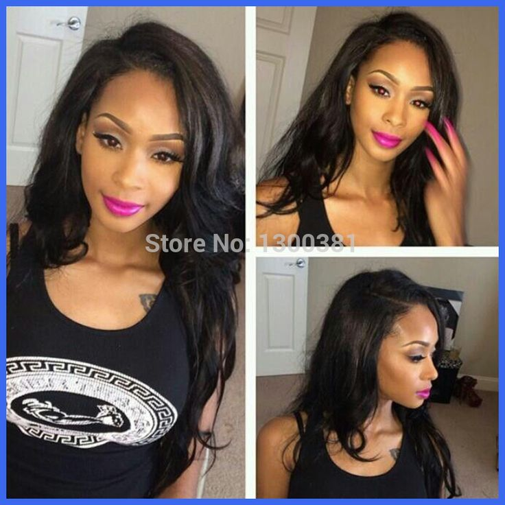 Virgin Brazilian Human Hair U Part Wigs Natural Black Straight Density Available Top Quality