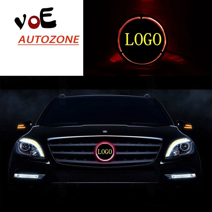 48.88$  Buy here - http://aliple.worldwells.pw/go.php?t=32725069982 - W204 Illuminated Star Car Front Grill Grille LED Light Logo Badge for 2008-2013 Mercedes-Benz W204 C-class 48.88$