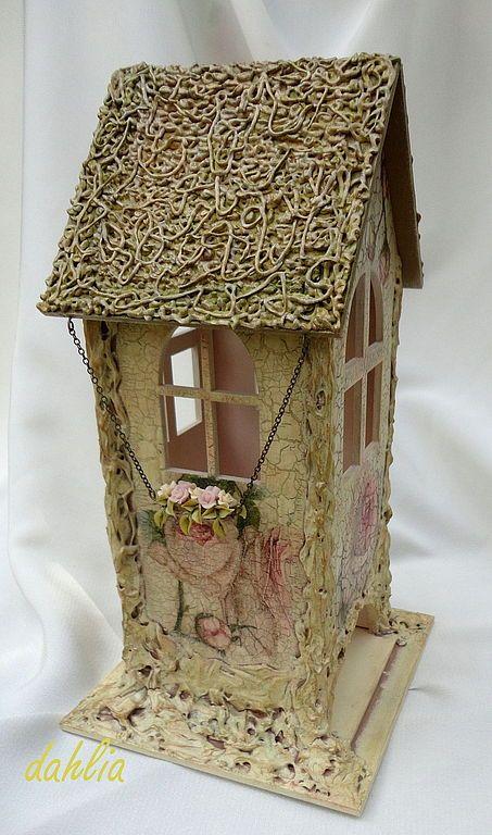 """Купить Чайный домик """"Розы"""" - чайный домик, Декупаж, кракелюр, текстура, розы, украшение для кухни"""