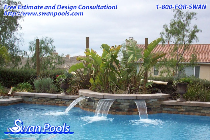 Swimming Pool Water Quality : Best swan pools sheer descents rip rap water features