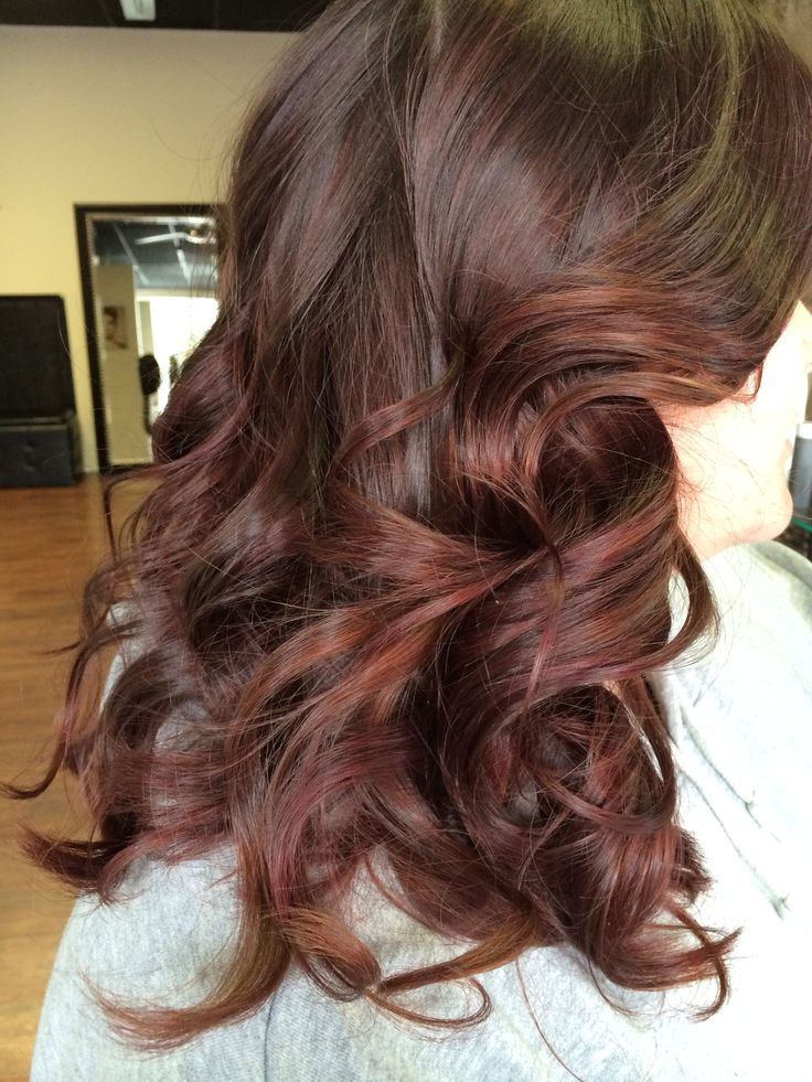 brown/red balayage ombré highlights: Hairstyles, Hair ... - photo#15