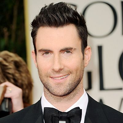 ADAM LEVINE - 2012 A sleek pompadour plus rock and roll stubble at the Golden Globe Awards! Levine branched out into acting with 'American Horror Story' and the feature film, 'Can a Song Save Your Life?'