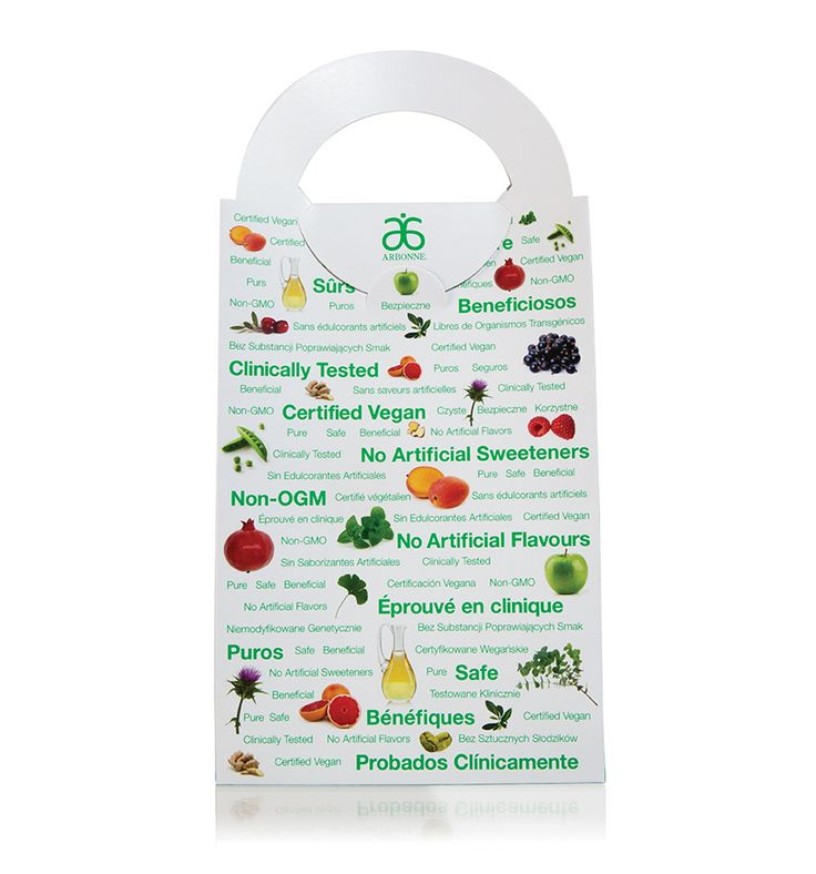 Boost your nutrition business with these Arbonne branded product sampling bags. Fill them with Fizz Sticks, Super Chews for Kids & Teens, Nutrition Bars, Digestion Plus packets or even Daily Power Packs for Women. It's the ideal way to let Clients try the range of Arbonne Essentials products. Made from FSC Certified Material. Pack of 10, 139.7mm x 285.75mm x 69.85mm