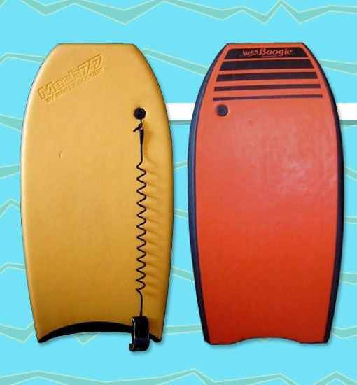 Morey Boogie Mach 7-7 Boogie Board.  Many summers were spent with this bad boy