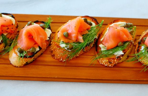 Smoked salmon dill appetizer