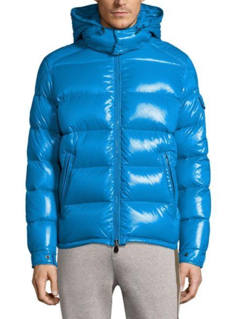 963d8e731 MONCLER MAYA GIUBBOTTO Maya Down Jacket Blue Size 2 Men s Medium ...