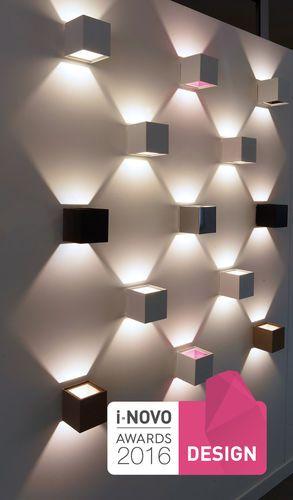 Applique murale contemporaine / carrée / en aluminium / à LED ALEA LED 456 Egoluce