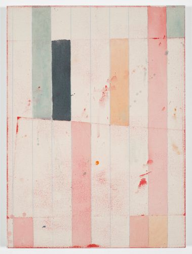 """Matt Connors inspiration for a quilt, I like the diagonal line in the center.  Change the color scheme a little, but keep it subtle and add a few """"splashes"""" of fabric paint.  It could work...I will have to dream on it a little longer"""
