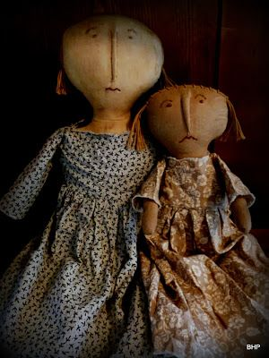 Primitive dolls ~ Mary Bedford and Lydia