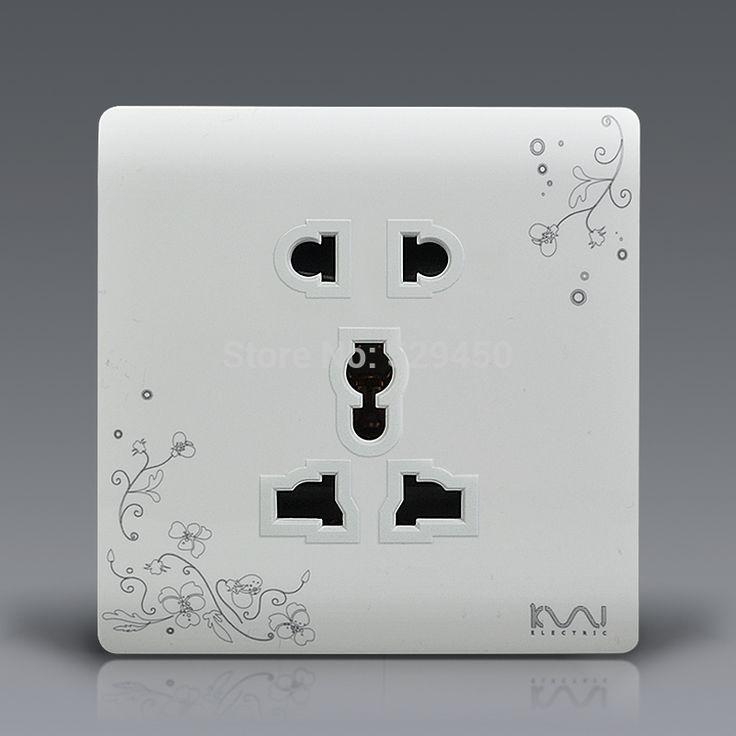 Suit For EU / UK / US / AU Standard Plug, Kempinski Luxury Wall Electrical Socket, Multifunction 5 hole power outlet,AC 110~250V