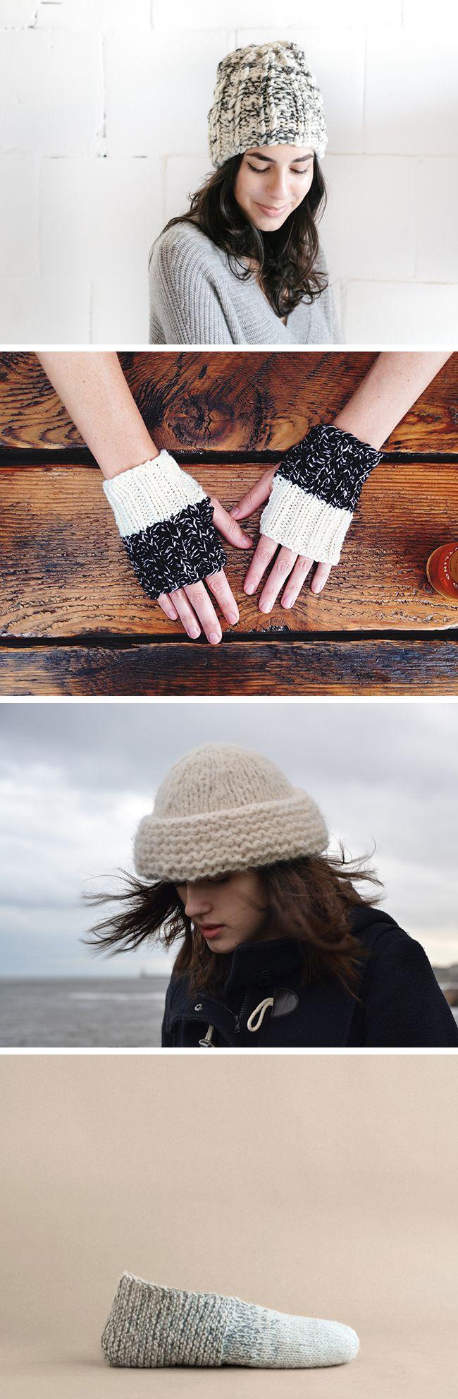 One-night knits!  (free patterns)