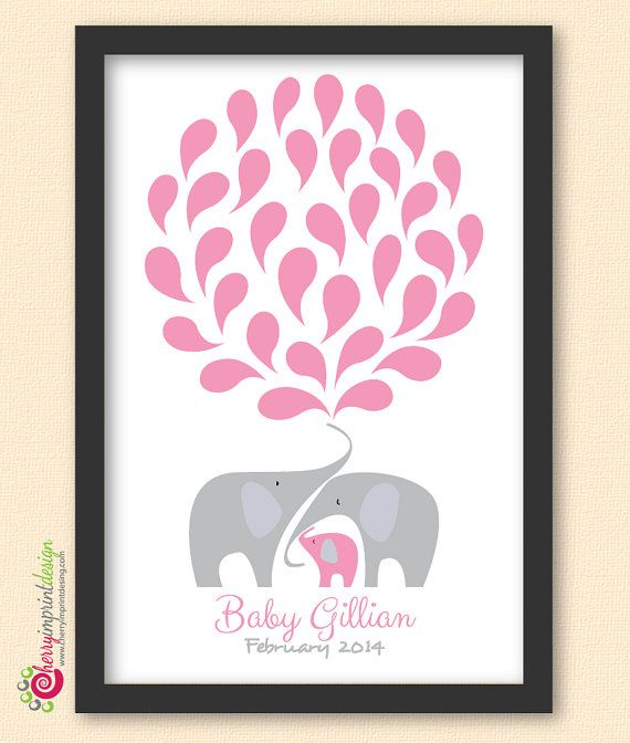 Unique Printable Elephant Baby Shower Guest Book Great for Coed Showers DIY (Digital File) on Etsy, $22.46 AUD