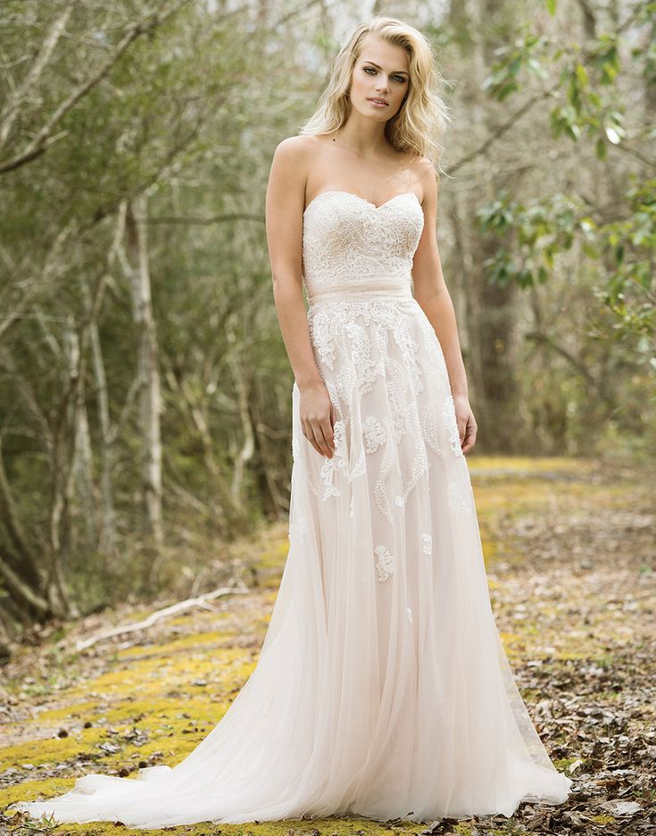 Available at Adore Bridal Boutique! www.adorebridalga.com  Lillian West lillian west style 6461  A sweetheart neckline, self-tie belt…