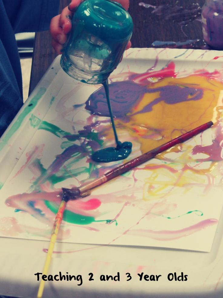 Teaching 2 and 3 Year Olds: Painting Activities
