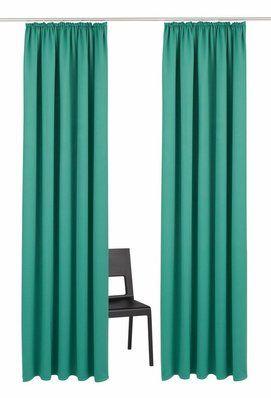 #nice  -->  Heimtextilien / Gardinen-und-vorhaenge / Vorhaenge -  my home Vorhang, »Solana«, mit Kräuselband (1 Stück oder 2 Stück), grün, Kräuselband, Verdunkelnd/Energiesparend, grün // checkt out more --> moebel.de