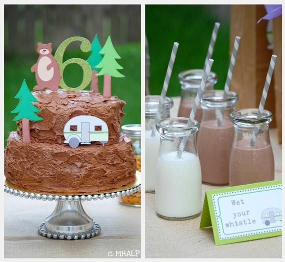 camping theme: Birthday Parties, Camps Birthday, Custom Cakes, Cakes Toppers, Fun Ideas, Parties Ideas, Camps Parties, Parties Theme, Cake Toppers