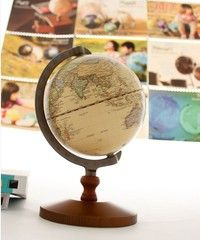 Wish | Top 14cm Vintage Replogle Rotating Desktop Geography World Earth Globe Toy Gift