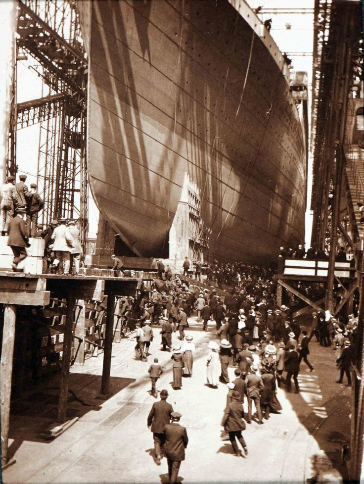 A selection of previously unpublished images depicting the launch of the doomed ocean liner Titanic at the Belfast shipyard where she was constructed - The Guardian
