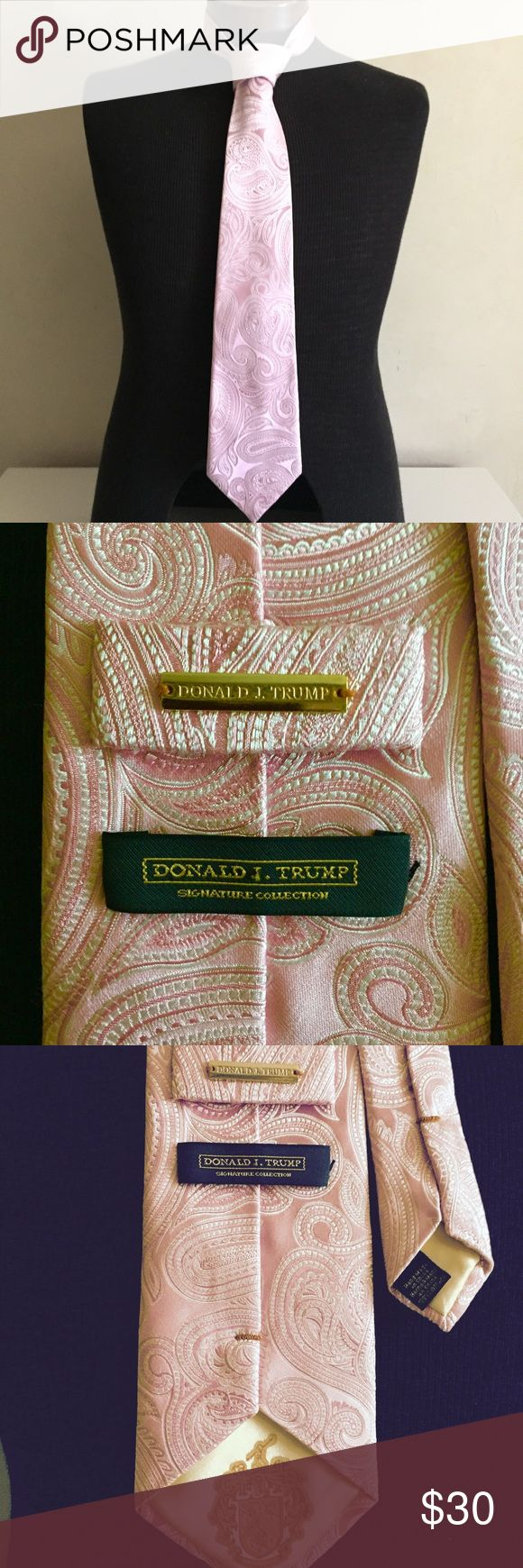 President 's Tie Donald J. Trump Signature tie. Worn only twice and in excellent condition with exception of slightly faded area (see last two pictures for reference) Selling this as a beautiful piece of man attire, So please don't start political discussion here. Accessories Ties