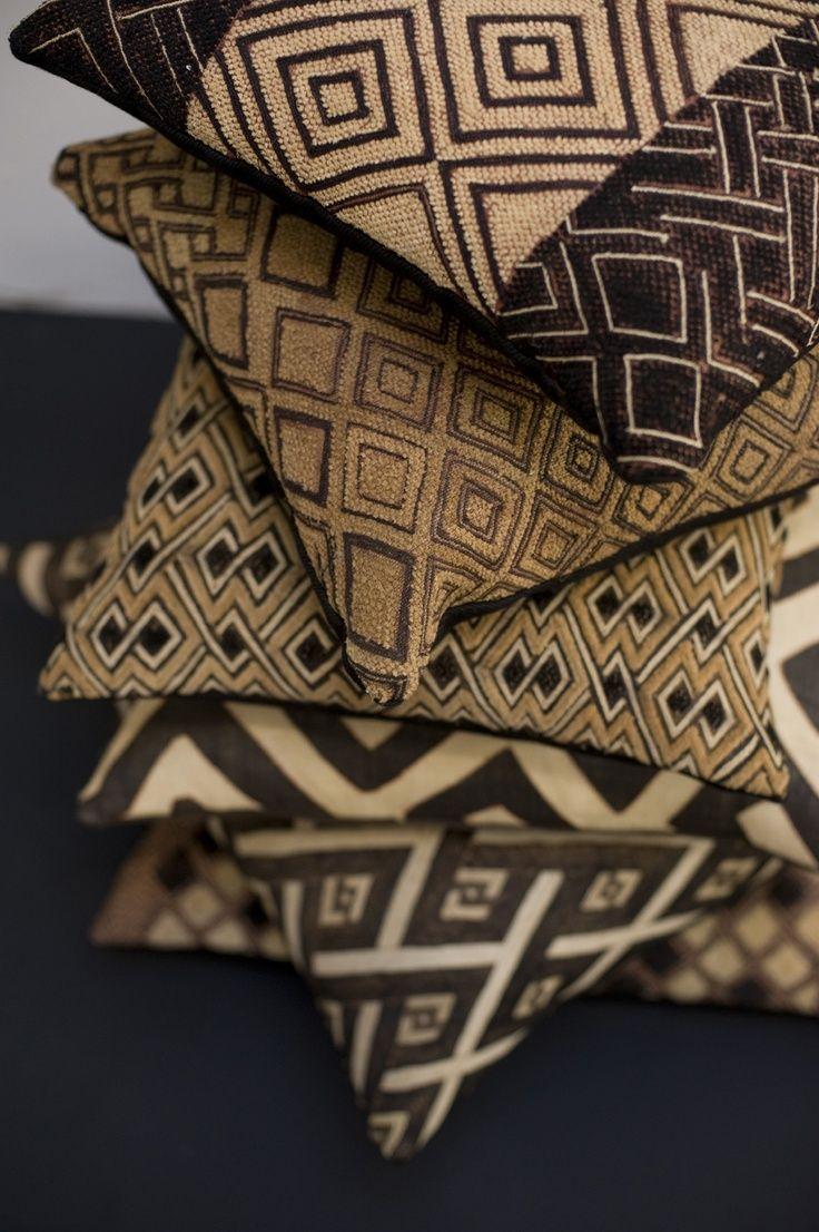 African kuba cloth pillows african inspired decor