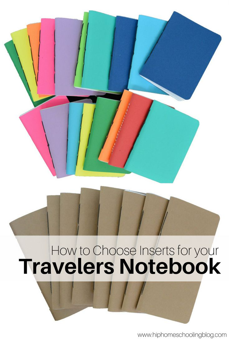 How to Choose Travelers Notebook Inserts - pinned by ∙⋞ ✦ Karen of CraftedColour ✦ ⋟∙