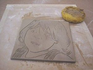 Ceramic Art Lesson Plan: Ink Transfers on Clay -