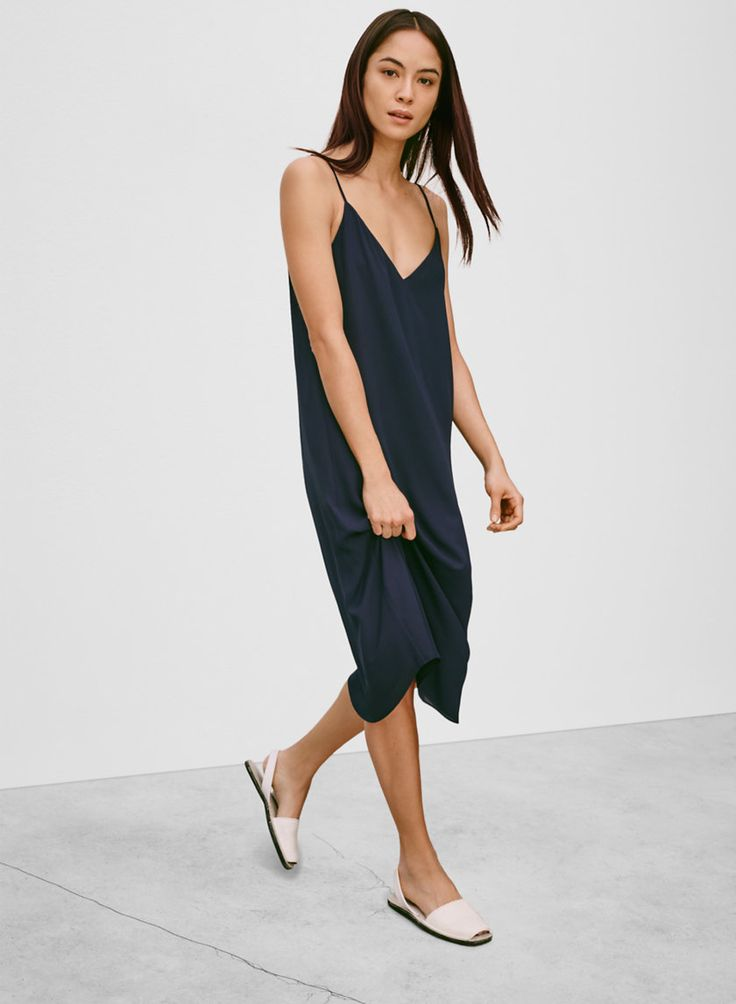 BABATON TEMPLETON DRESS - A simplified slip dress that makes a strong case for minimalism $75 Aritzia