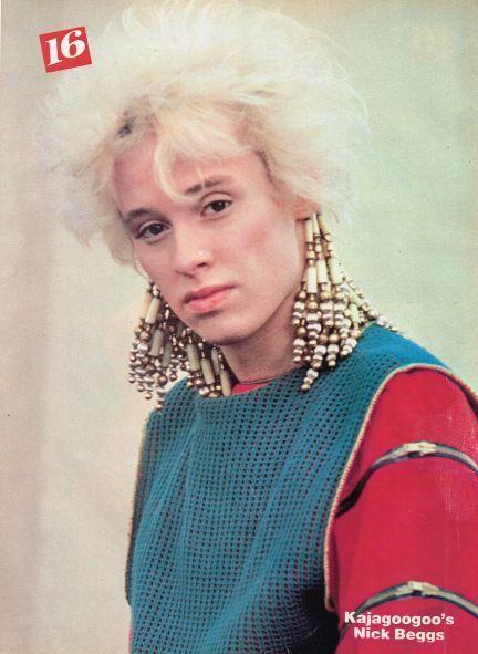 Nick Beggs Bass Of Kajagoogoo 1980s Fashion 80s