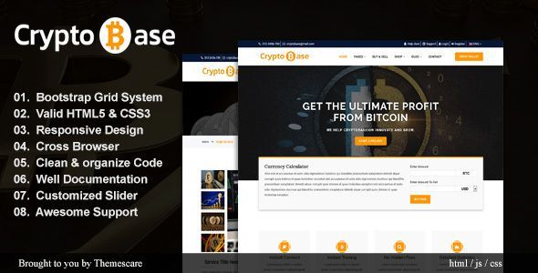 Cryptobase Crypto Currency Html Template