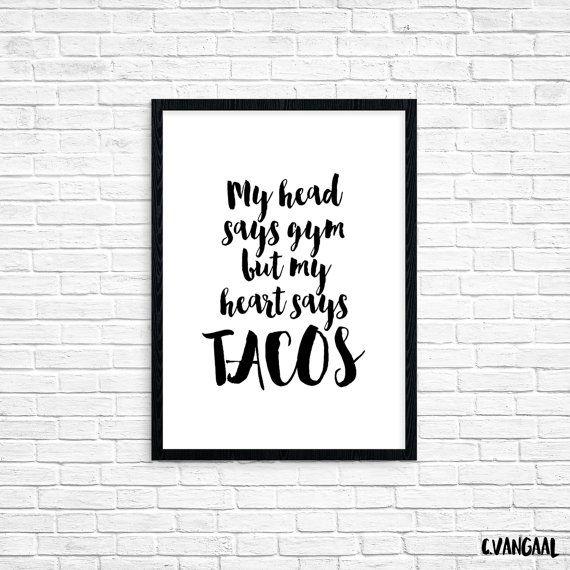 Foil Tacos Print