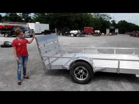 5' x 10' All Aluminum Utility Trailer 3500 lb Axle Dove Tail Review - http://sleequipment.com/news/5-x-10-all-aluminum-utility-trailer-3500-lb-axle-dove-tail-review/
