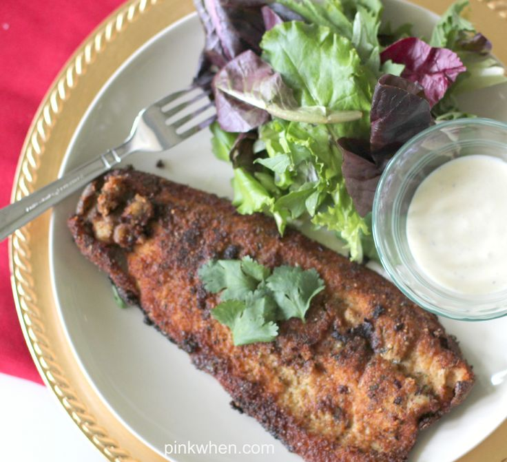 This Pan Fried Trout recipe has to be one of my favorite fish recipes EVER! So delicious and full of flavor.