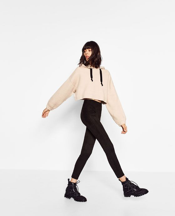 Image 3 of SEAM DETAIL LEGGINGS from Zara