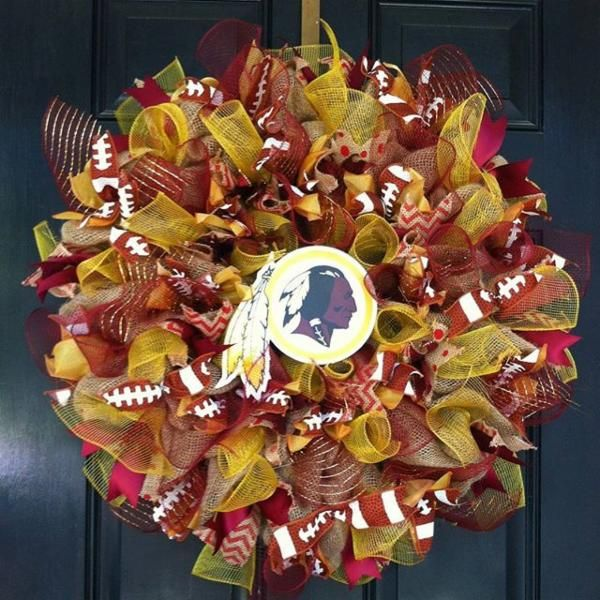 Another festive #Redskins wreath for the holiday season. #HTTR