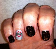 Image result for ohio state nail art