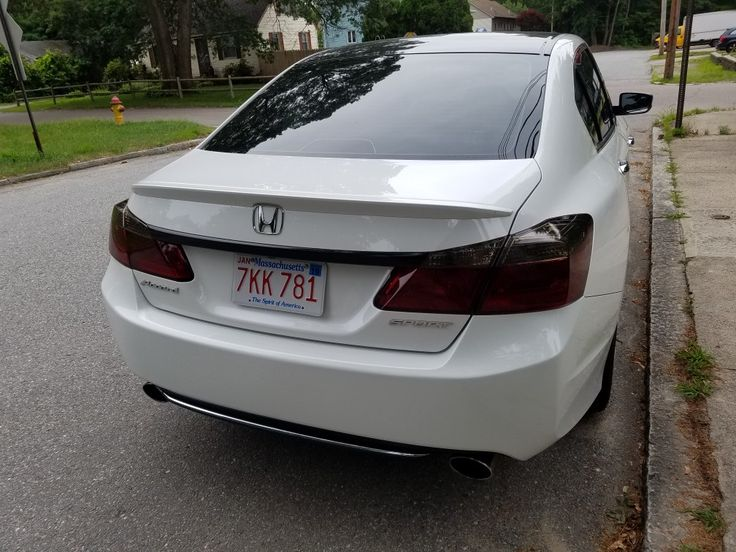 Tinted tail lights accord sport.