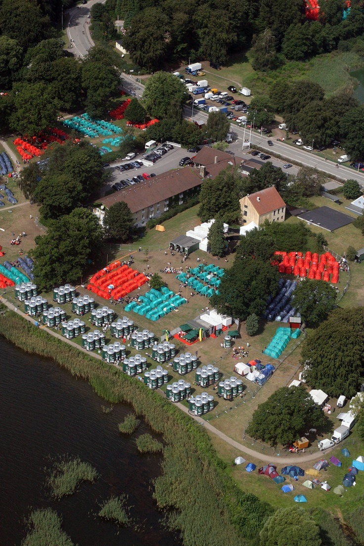 Can Sleep seen from above. Smukfest Skanderborg